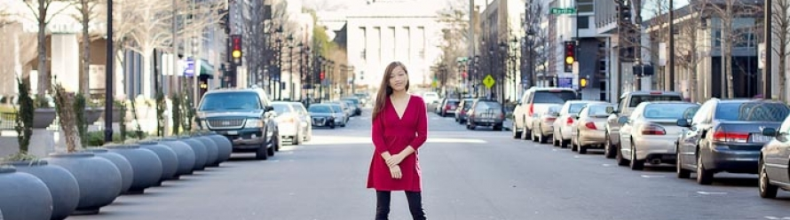 Photographing an Aspiring Actress in Downtown Raleigh, NC