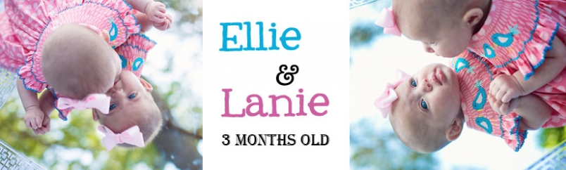 Ellie and Lanie: 3 Month Old Preview