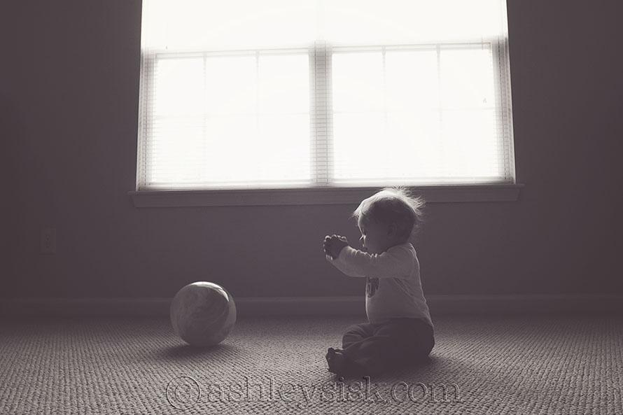 Playing with my Ball bw RS
